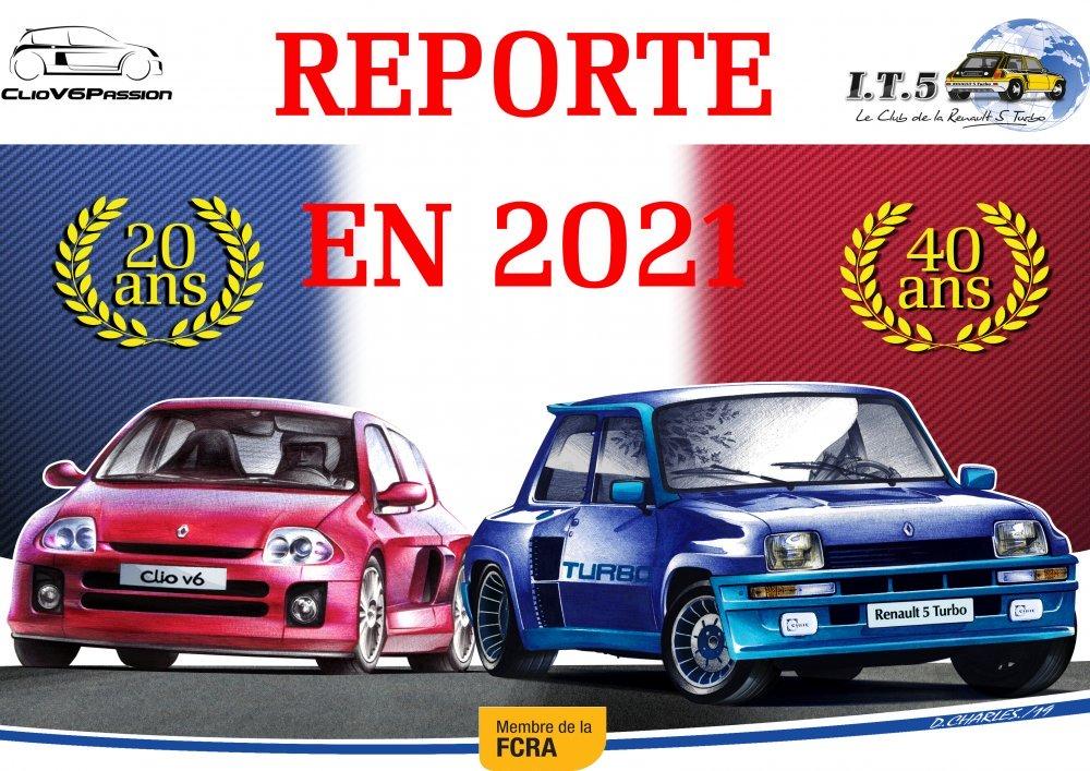 Anniversaires R5T et CV6 reportés en 2021